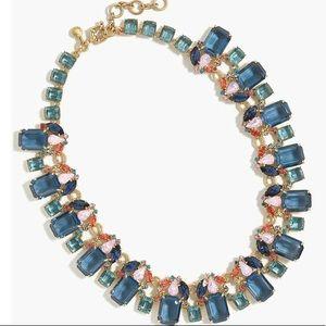 J Crew cluster drop stone necklace